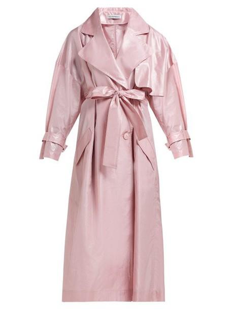 Vika Gazinskaya - Silk Taffeta Trench Coat - Womens - Pink
