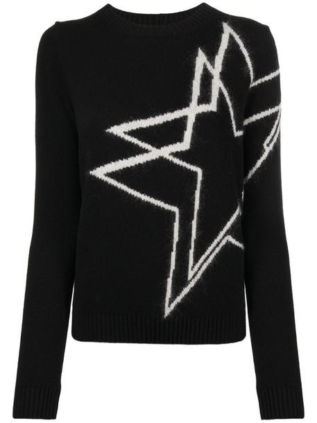 Nº21 star motif jumper in black