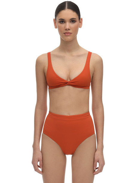 BONDI BORN Matilda Lycra Bikini Top in orange