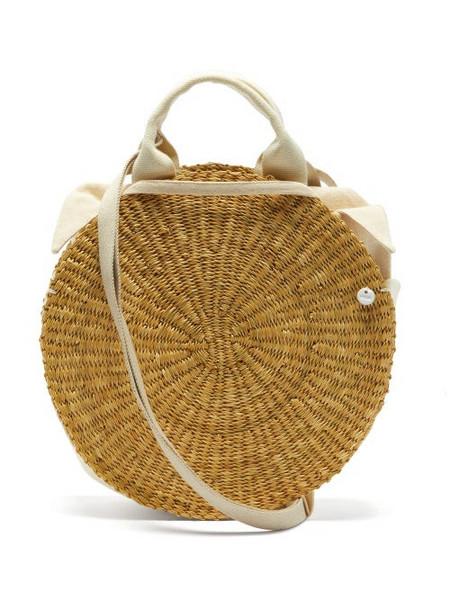Muuñ Muuñ - Rosa Straw Basket Bag - Womens - Beige Multi