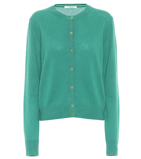 The Row Exclusive to Mytheresa – Annamaria cashmere cardigan in green