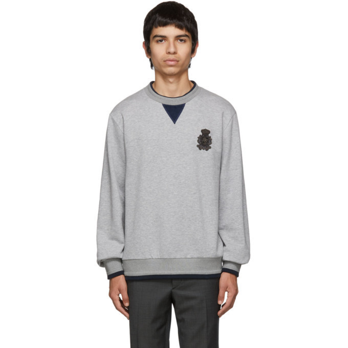 Dolce and Gabbana Dolce & Gabbana Grey Cashmere Plain Sweatshirt