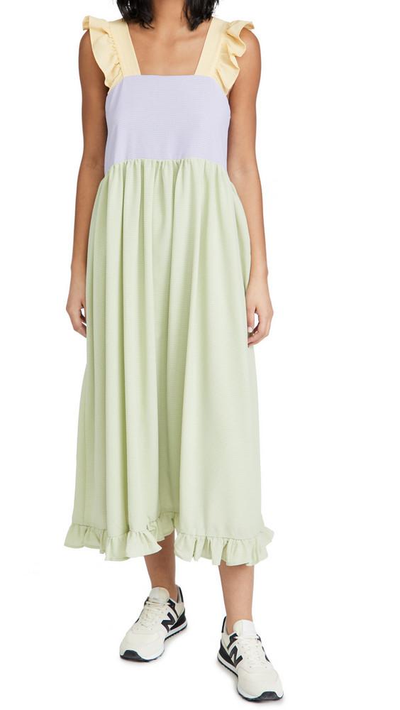 Sister Jane Fun and Frolics Midi Dress in green / lilac