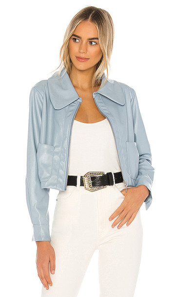 Lovers + Friends Lovers + Friends Lynn Jacket in Baby Blue