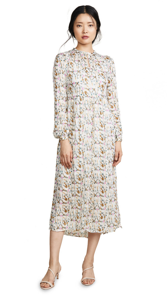 Heartmade Hornsea Dress in white / print