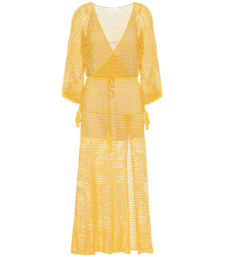 Anna Kosturova Stevie cotton maxi dress in gold