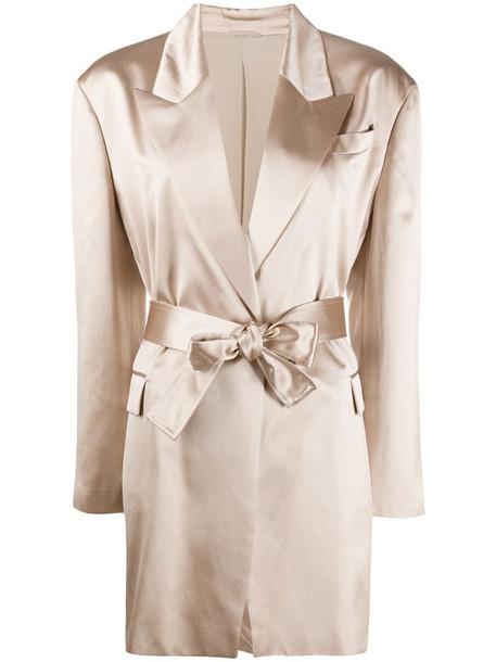 Brunello Cucinelli silk-blend blazer in neutrals