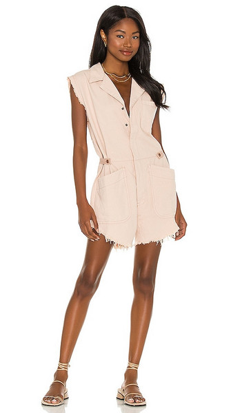 One Teaspoon Pallisades Overall in Blush in pink
