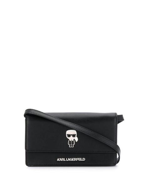 Karl Lagerfeld K/Ikonik cross body bag in black