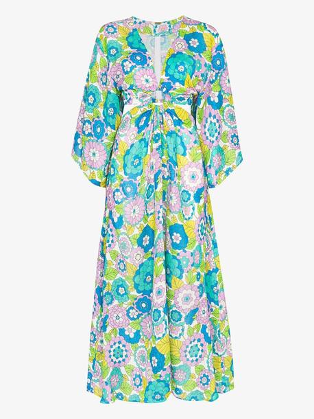 Dodo Bar Or Shelly floral print cutout dress
