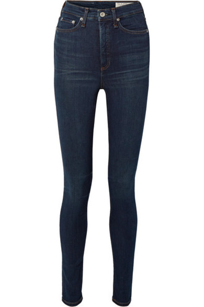 rag & bone - Jane Super High-rise Skinny Jeans - Dark denim