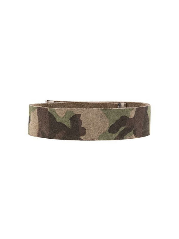 Manokhi camouflage leather choker in green
