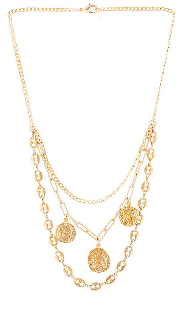joolz by Martha Calvo Ambition Necklace in Metallic Gold