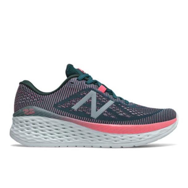 New Balance Fresh Foam More Women's Neutral Cushioned Shoes - Green/Pink/Blue (WMORTL)