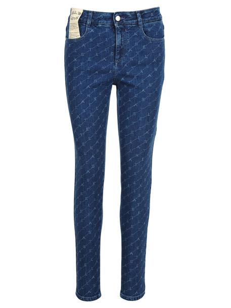 Stella Mccartney Stella Mccartney Monogram Skinny Jeans in blue