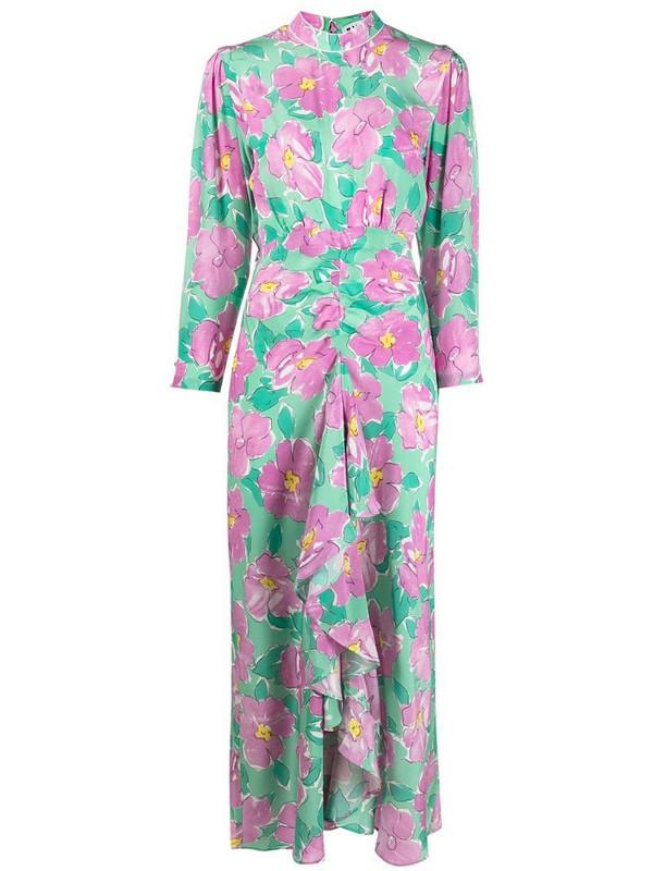 Rixo Cherie Azalea floral-print dress in green