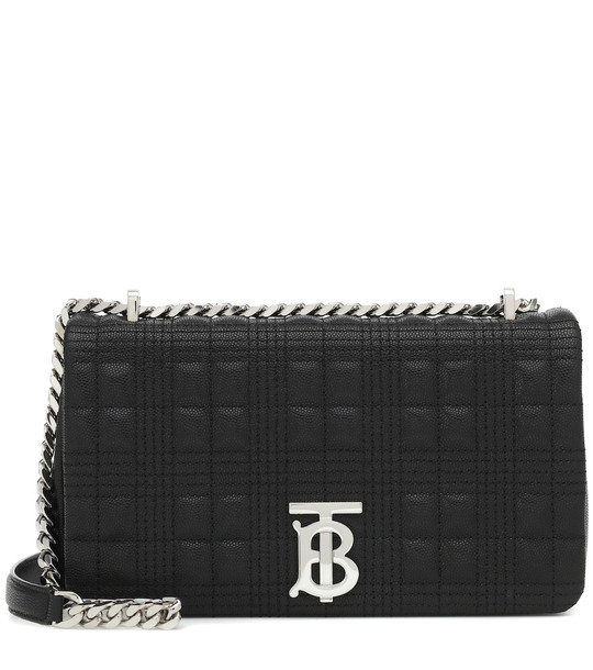 Burberry Lola Small leather shoulder bag in black