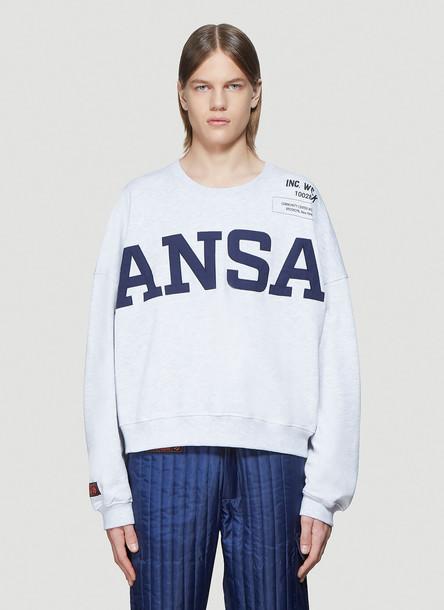 Willy Chavarria x Kansas Kansas Sweatshirt in Grey size XL