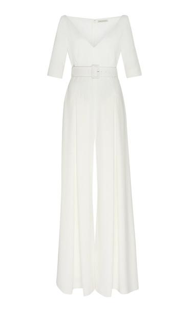 Emilia Wickstead Chantal Wide Leg Jumpsuit in white
