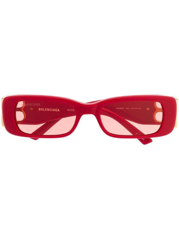 Balenciaga Eyewear Dynasty rectangular-frame sunglasses in red