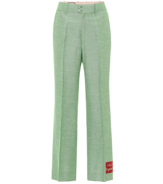 Gucci Orgasmique high-rise wide-leg pants in green