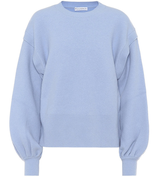 JW Anderson Wool-blend sweater in blue