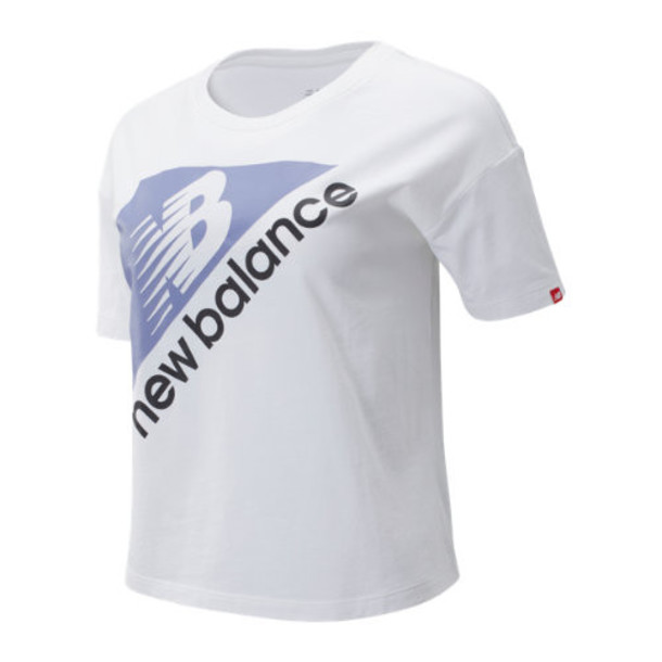 New Balance 93518 Women's NB Athletics Archive Boxy Tee - White (WT93518WT)