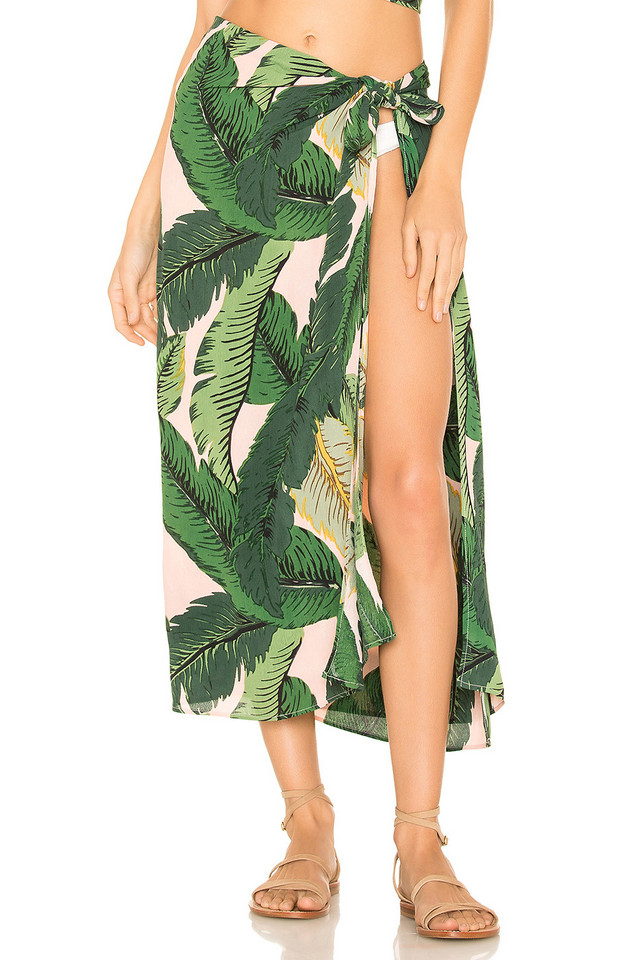 BEACH RIOT x REVOLVE Palm Sarong Cover Up in blush