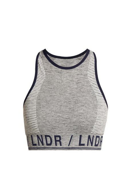 Lndr - Aero Seamless Sports Bra - Womens - Grey Multi