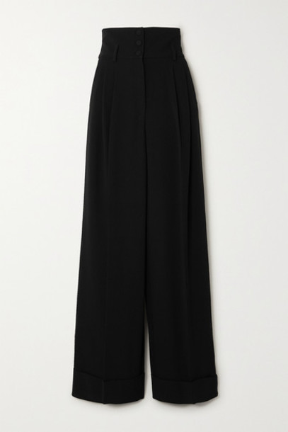 Dolce & Gabbana - Cady Wide-leg Pants - Black