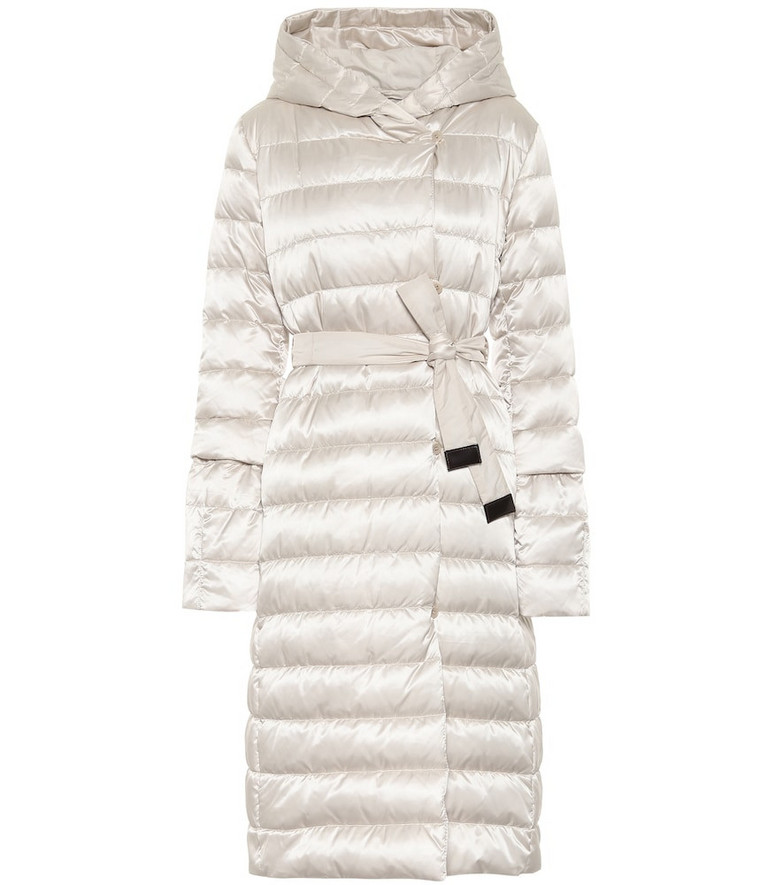 Max Mara Novelu reversible quilted coat in white