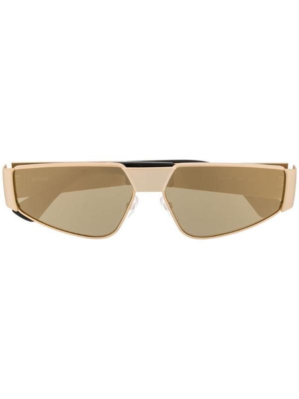 Moschino Eyewear slim frame sunglasses in gold