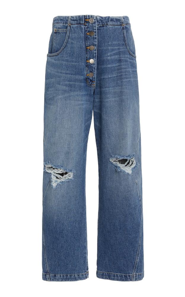 Rachel Comey Wilkes Rigid Distressed Denim Pants in blue