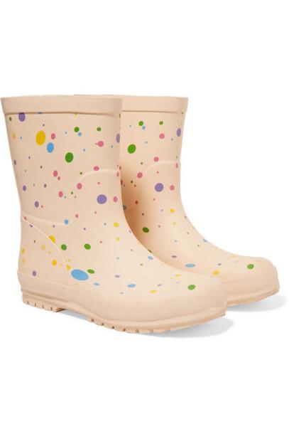 Stella McCartney Kids - Polka-dot Rubber Rain Boots - White