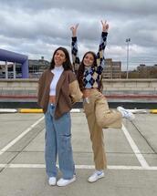 jacket,pants,sweater,jeans