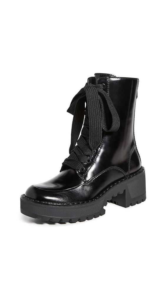 Stella Luna Metal Lace Up Boots in black