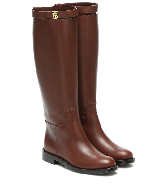 Burberry Leather knee-high boots in brown