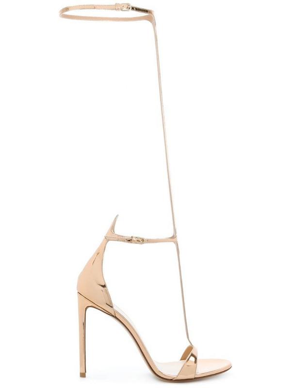 Francesco Russo tall strap sandals in metallic