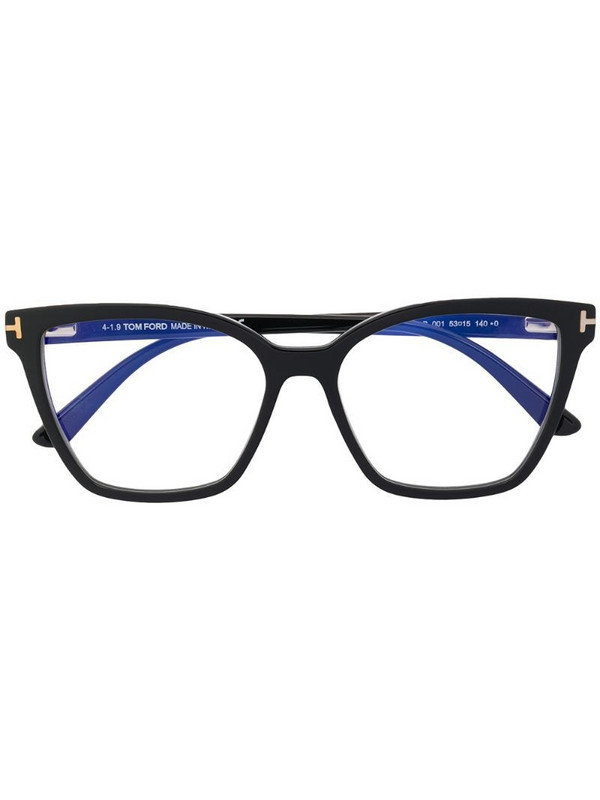 Tom Ford Eyewear clip-on tinted sunglasses in black