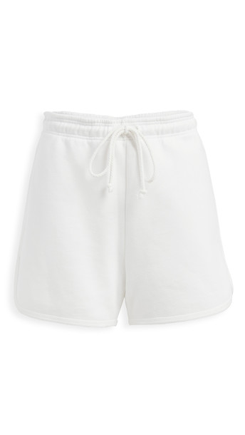 Reformation 70's Sweat Shorts in white
