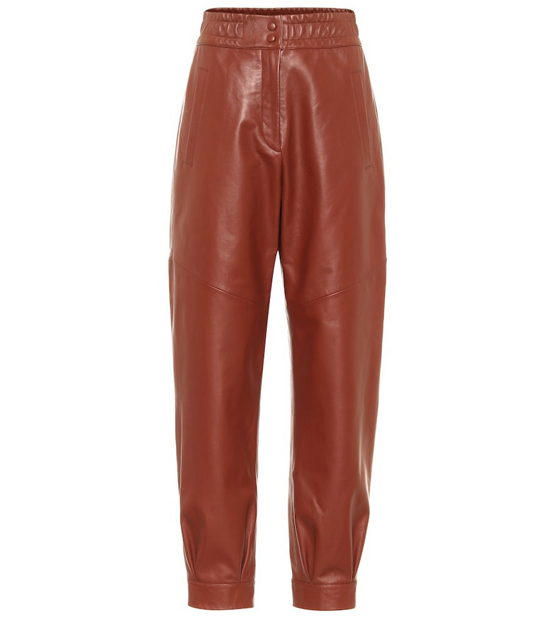 Common Leisure Chilling leather pants in brown