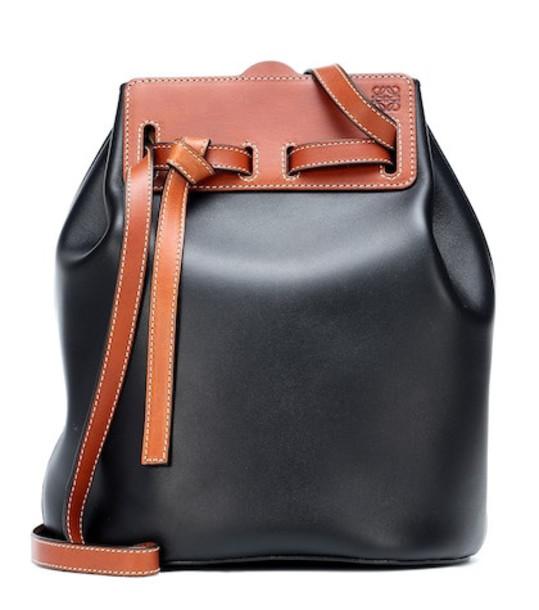 Loewe Lazo leather bucket bag in black