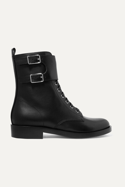 Gianvito Rossi - La Garde Leather Boots - Black