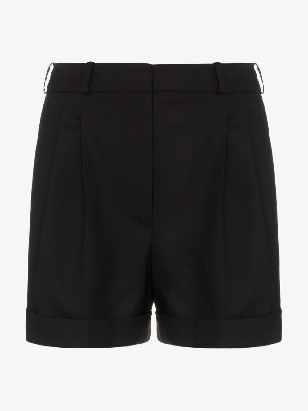 Racil City high waisted tailored shorts in black