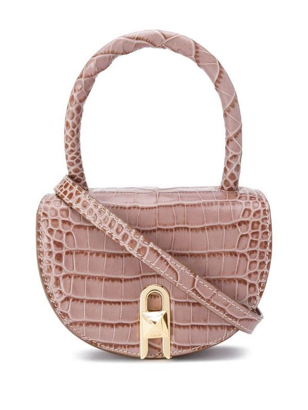 Salar Winnie embossed tote bag in brown