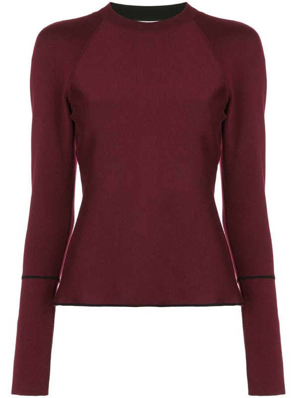 Casasola double face fine jumper in red