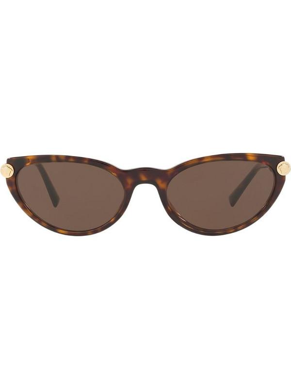 Versace Eyewear V-Rock cat eye sunglasses in brown