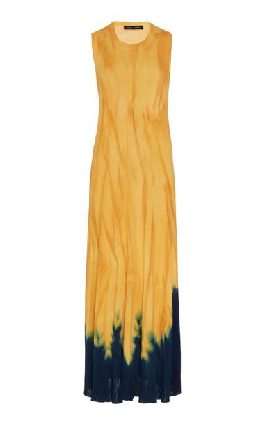 Proenza Schouler Tie-Dye Printed Sleeveless Knit Dress Size: XS in orange
