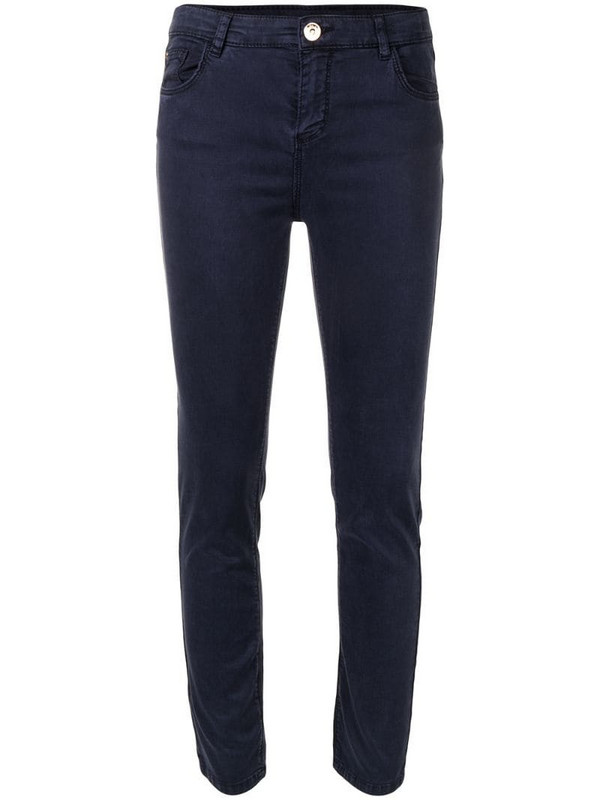 Twin-Set high-rise skinny fit jeans in blue