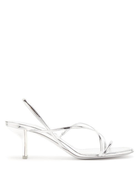 Nicholas Kirkwood - Leelo Metallic Leather Sandals - Womens - Silver